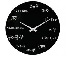 Matematické hodiny sklenené