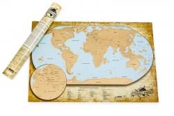 Stieracia mapa sveta - LUXUSNÁ ČESKÁ VERZIA