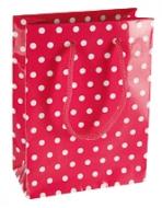 Darčeková taška - Ružová s bodkami
