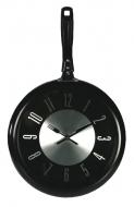 Pánvičkové hodiny - čierne