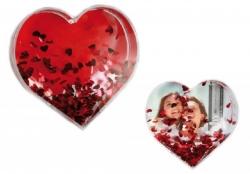 3D fotorámček v tvare srdca
