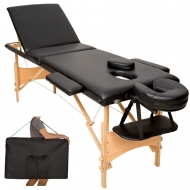 Trojdielny masážny stôl