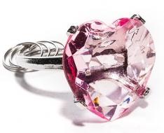 Prívesok diamant srdce - ružový