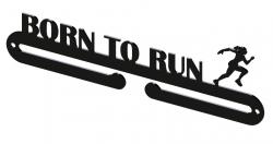 Vešiak na medaily - born to run žena