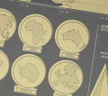 Stieracie mapa sveta deluxe čierna