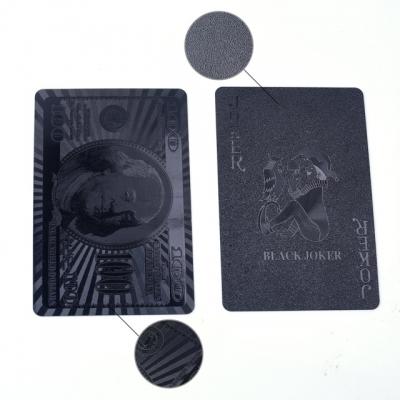 Luxusné čierne hracie karty 54 ks