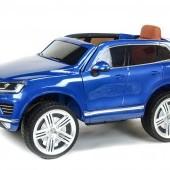 Volkswagen Touareg s 2.4G DO, EVA kolesami, otváracími dverami, čalúnenou sedačkou, LED, FM, USB, TF, bluetooth, pružením, čierna metalíza