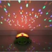 Korytnačka s krásnym LED svietiacim pancierom