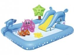 Detský nafukovací bazén so šmýklavkou