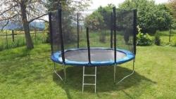 Trampolína 244 cm + Sieť+Rebrík- max. záťaž 150 Kg