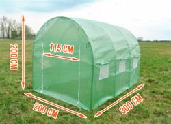 Záhradný fóliovník 3 m x 2 m x 2 m