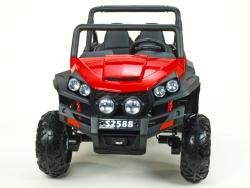 Dvojmiestna Bugi V-Twin 4x4, náhon 4 EVA kolies, s 2.4G DO, FM, Mp3, TF, bluetooth, čalúnený sedák 57cm, červená