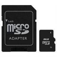 Micro SDHC karta s adaptérom - 8 GB