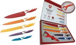 Sada 5 - tich švajčiarskych nožov