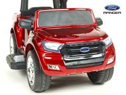Ford Ranger pre najmenších, 6V elektrické autíčko s vodiacou tyčou, strieškou, madlami, 2 opierky, Mp3, TF card, lakovaná vínová metalíza,