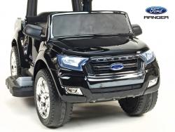 Ford Ranger pre najmenších, 6V elektrické autíčko s vodiacou tyčou, strieškou, madlami, 2 opierky, Mp3, TF card, lakovaná čierna metalíza,
