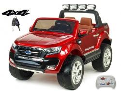 Dvojmiestny Ford Ranger Wildtrak 4x4 náhon všetkých EVA kolies, 2,4G DO, bluetooth, FM, USB, TF, otváracími dverami, kapotou, čelom, 2xbatérie, vínová metalíza