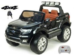 Dvojmiestny Ford Ranger Wildtrak 4x4 náhon všetkých EVA kolies, 2,4G DO, bluetooth, FM, USB, TF, otváracími dverami, kapotou, čelom, 2xbatérie, čierna metalíza
