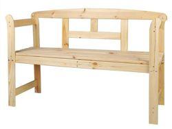 Záhradná lavica s pohodlným operadlom