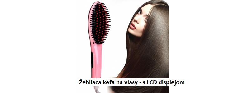 Žehliaca kefa na vlasy - s LCD displejom