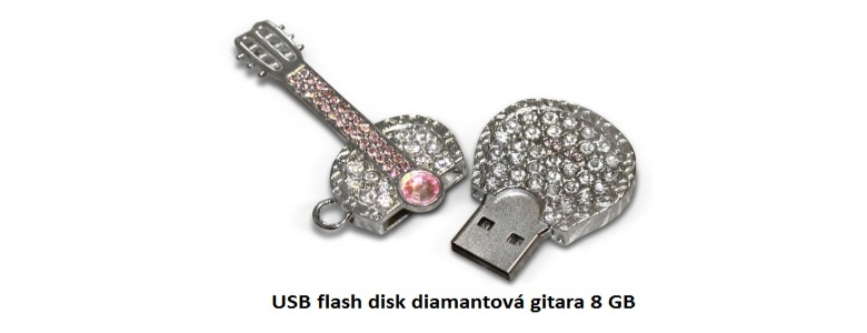 USB flash disk diamantová gitara 8 GB